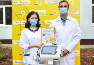 «Лемтранс» спільно з Фондом Ріната Ахметова передав апарат ШВЛ Волноваській центральній районній лікарні